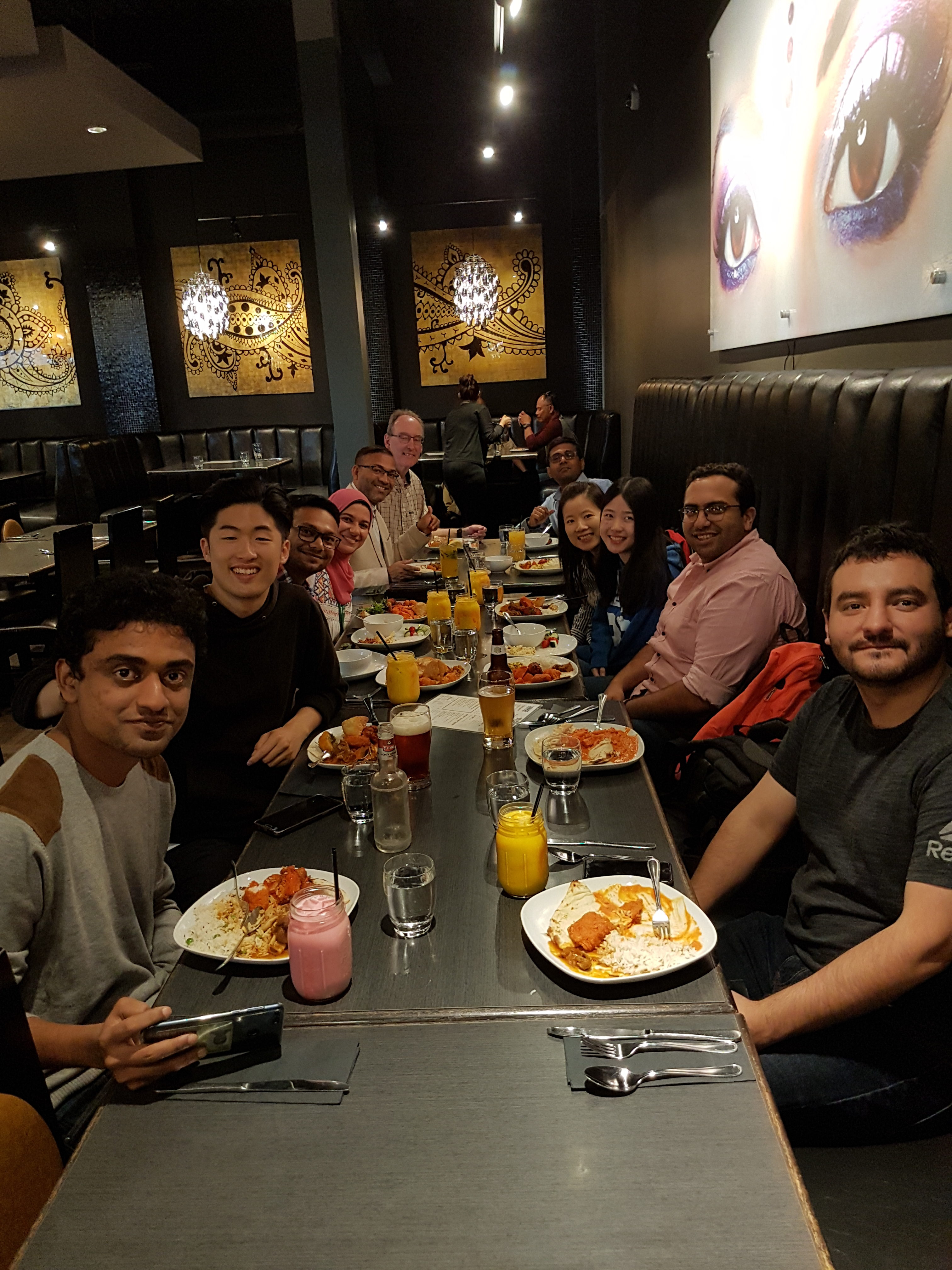 Luncheon with lab members and collaborators_July 24, 2018